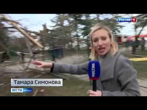 Упавшие крыши, деревья и стены: сильный шторм в Крыму нанёс ущерб инфраструктуре