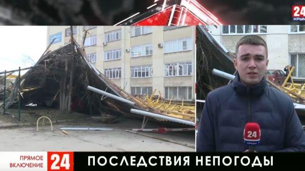 Ветер снёс крышу в Симферополе: новые подробности