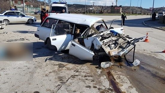 В Судаке погибла женщина при столкновении трех автомобилей
