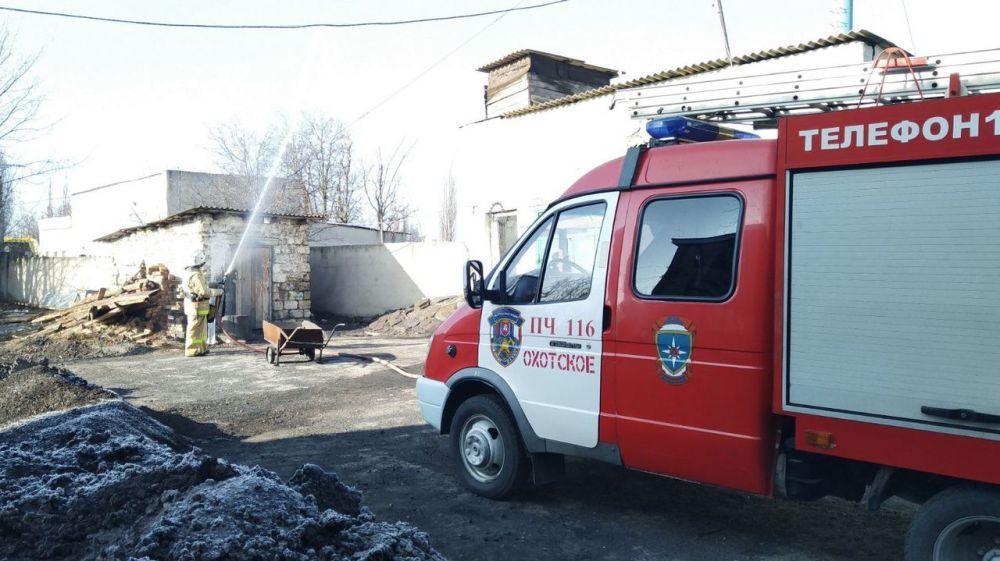 Огнеборцы ГКУ РК «Пожарная охрана Республики Крым» провели пожарно-тактическое занятие в котельной