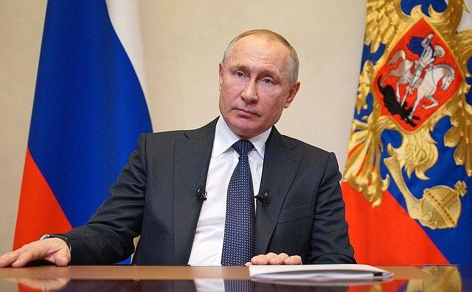 Путин выступил с обращением к россиянам из-за коронавируса