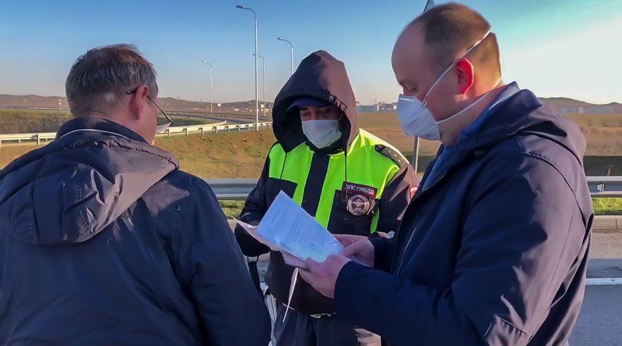Через блокпост на Крымском мосту за день не смогли проехать не больше 10 автомобилей – Аксёнов