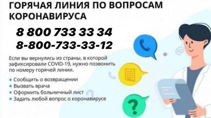 Информация для граждан о номерах телефонов «горячих линий» и информационных сайтах, где можно ознакомиться с мерами по профилактике коронавирусной инфекции