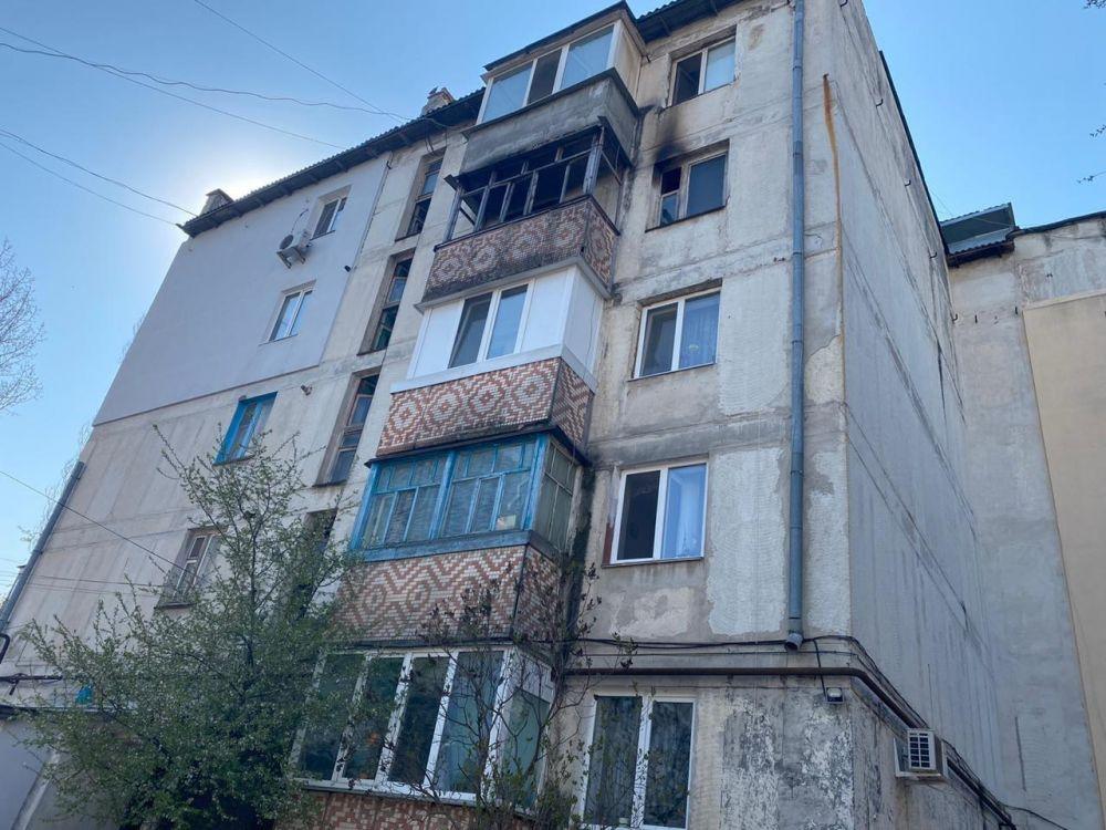 Следком проводит проверку по пожару в пятиэтажке Симферополя, где погибла супружеская пара