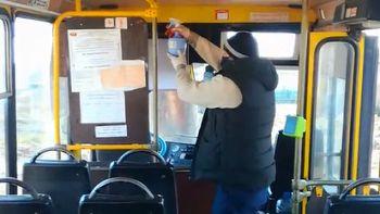 Осуществляется контроль за проведением профилактических мероприятия в общественном транспорте района