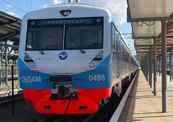 В Крым прибыли два электропоезда для нового маршрута