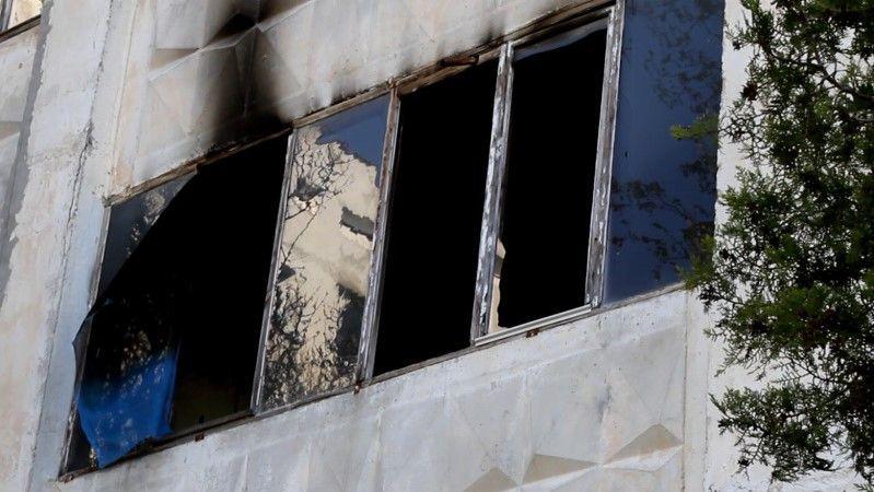 В Севастополе ликвидирован пожар на балконе второго этажа жилого дома