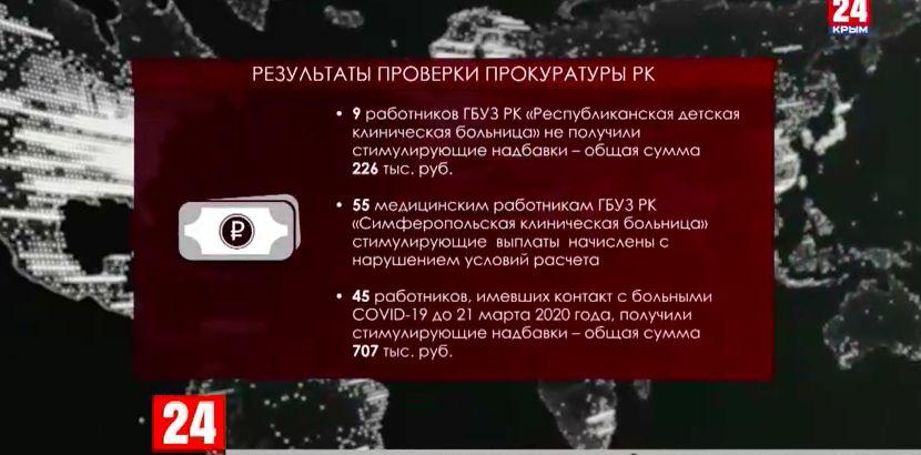 Медикам Крыма выплатили положенное вознаграждение