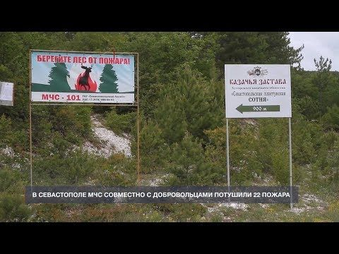 22 севастопольских пожара МЧС и добровольцы тушили вместе