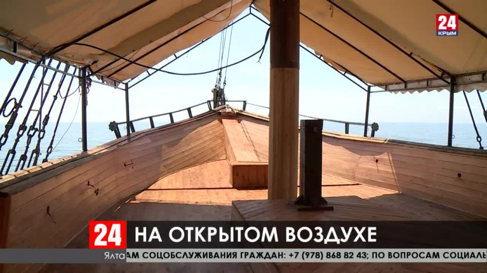 В Крыму после двух месяцев простоя, открылись площадки кафе и ресторанов