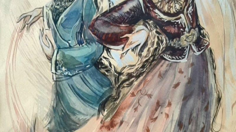 В рамках проекта «Мастерство онлайн» опубликован мастер-класс по рисунку костюма «Этномода актуальна во все времена»