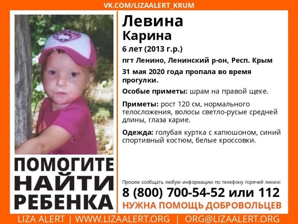 В Крыму пропала 6-летняя девочка: идут поиски, возбуждено уголовное дело