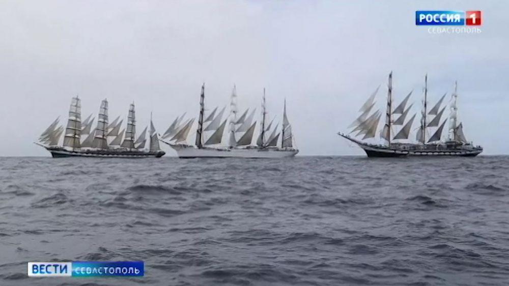 В Калининграде встретили из трансатлантической экспедиции парусник «Крузенштерн»