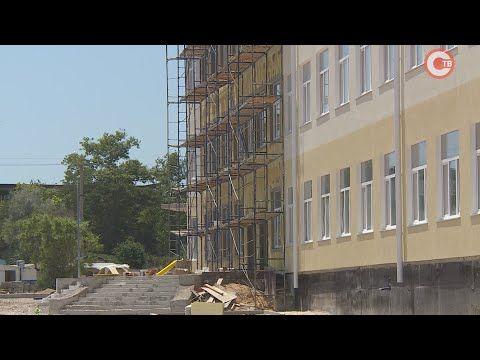 Завершаются отделочные работы нового корпуса школы №61 в Гагаринском районе (СЮЖЕТ)
