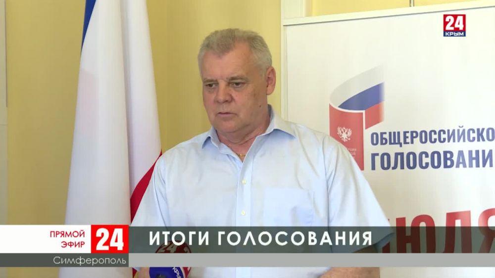 На заседании Избирательной комиссии Крыма подвели итоги голосования по поправкам к Конституции