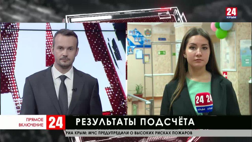 Подсчёт голосов продолжают в Симферополе