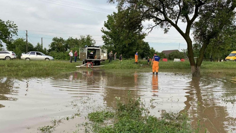 В Белогорском районе из-за сильных дождей пострадали жилые дома