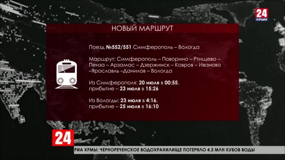 Теперь в Крым можно приехать на поезде «Таврия» из Вологды
