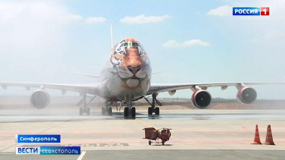 Аэропорт Симферополь принял первый прямой рейс из Владивостока