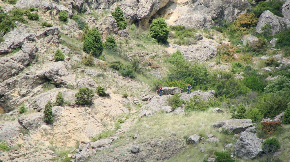 Туристов эвакуировали со скал под Форосом