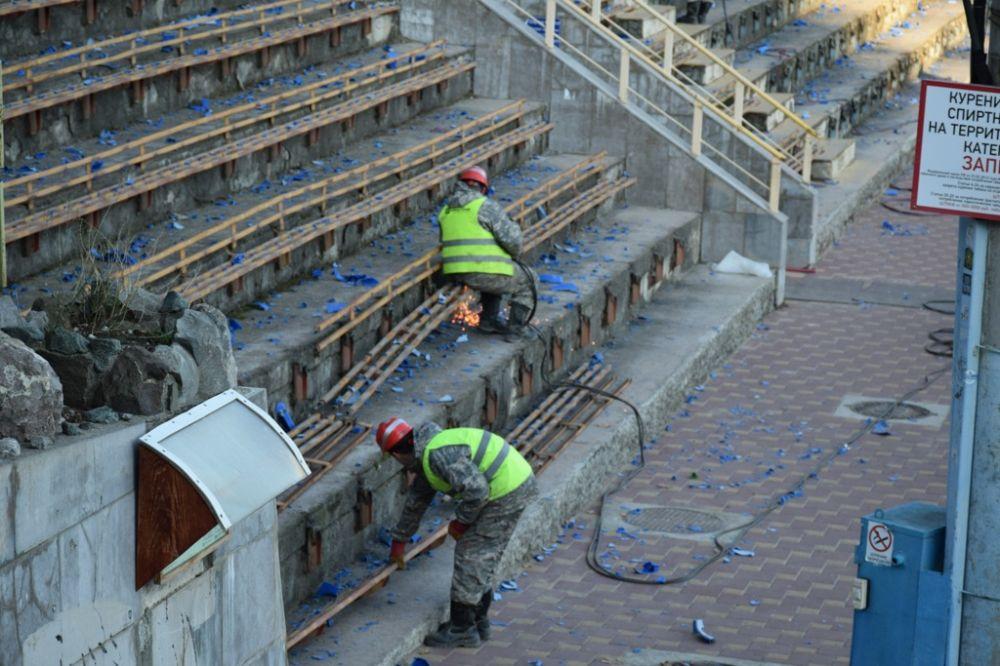 Стадион «Авангард» в Ялте сдадут на 9 месяцев раньше