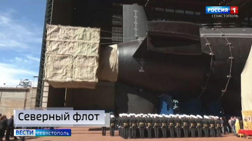 Спущен на воду ракетный подводный крейсер стратегического назначения «Князь Олег»