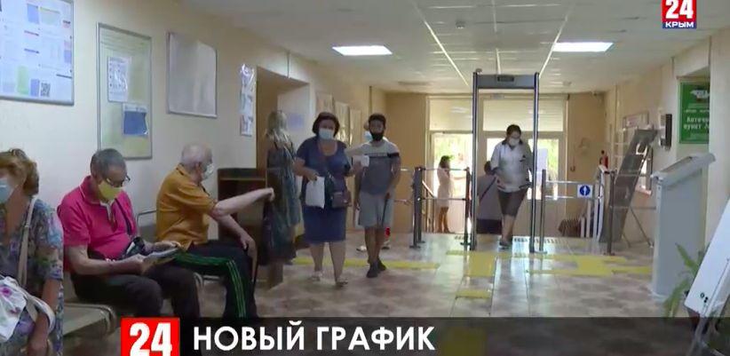 В поликлиники Крыма пропускают по несколько человек, а врачи принимают до 8 вечера