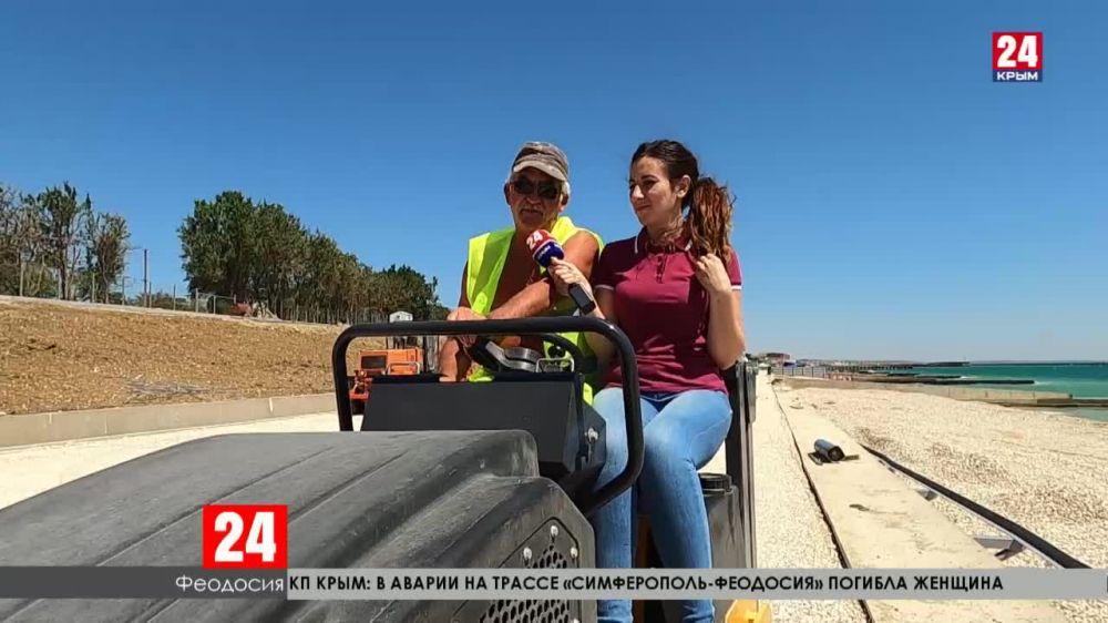 Берегоукрепительные работы в Феодосии – на финишной прямой