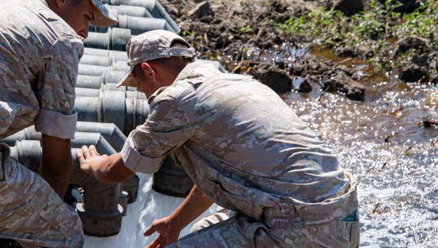 Минобороны РФ обеспечило Симферополь водой - видео