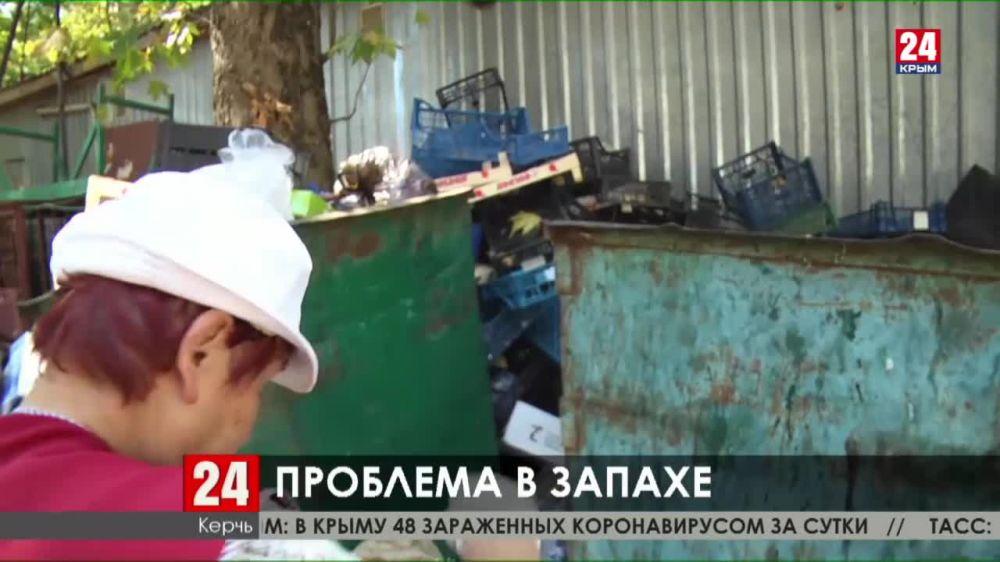 В Керчи мусорные контейнеры превратились в стихийные свалки