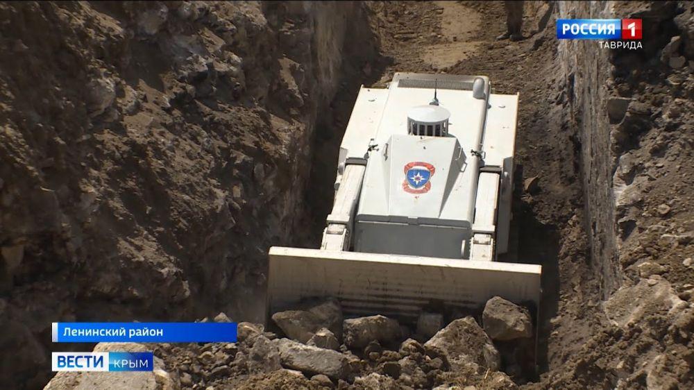 Крепость Керчь разминировали с помощью робота