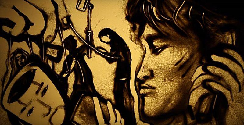Крымчанка Ксения Симонова представляет песочный фильм к 30-летию гибели Виктора Цоя