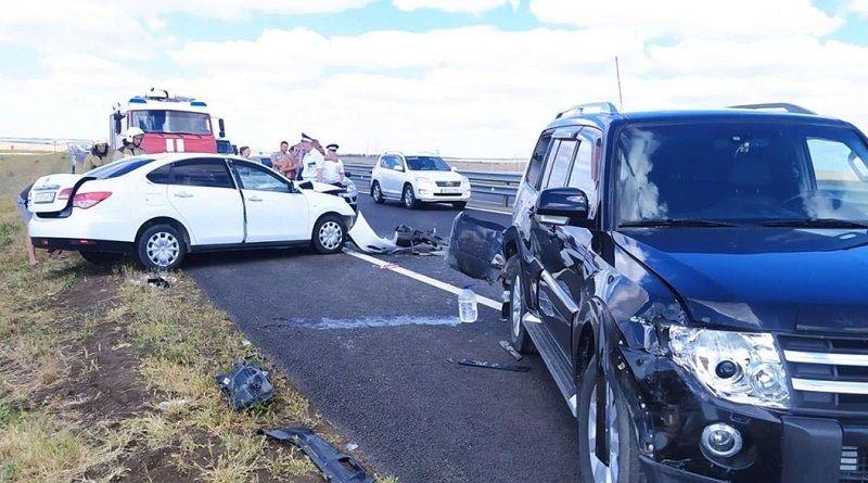 Утреннее ДТП на трассе «Таврида»: столкнулись три автомобиля, есть пострадавшие