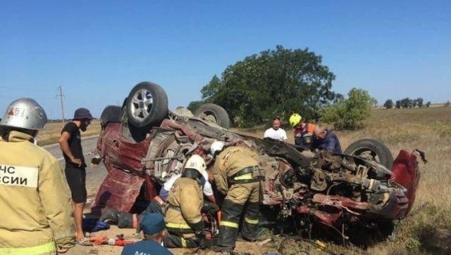 Было лобовое: в ГИБДД сообщили обстоятельства аварии в Сакском районе