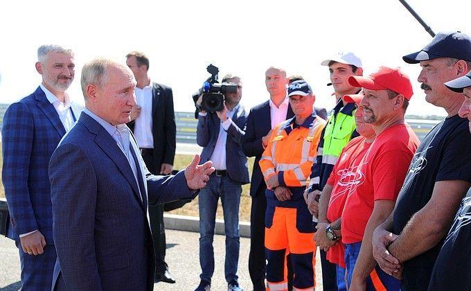 Владимир Путин открыл движение по трассе «Таврида»