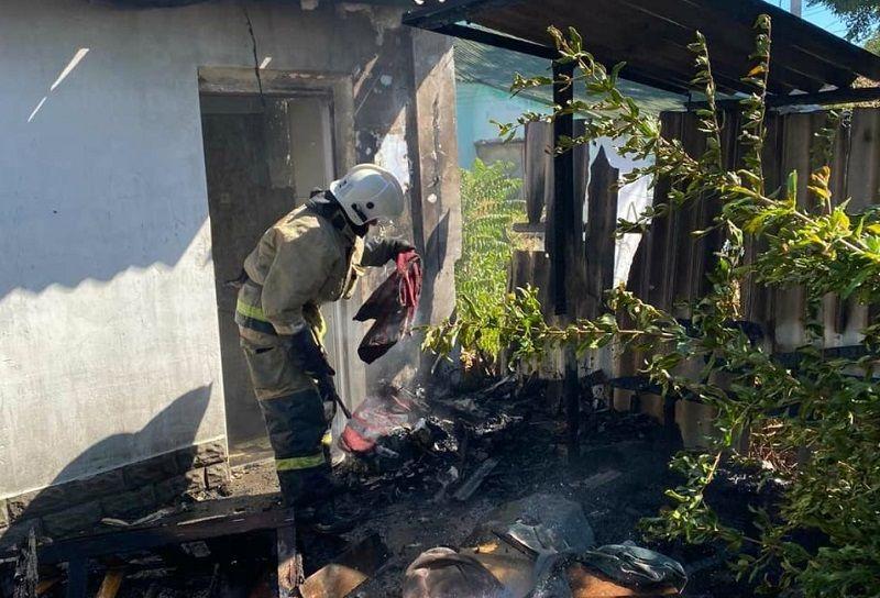 Субботний пожар в Евпатории
