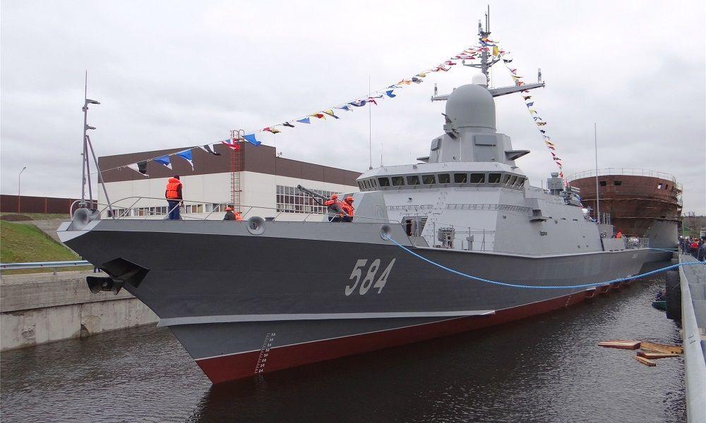 Патрульный корабль «Павел Державин» Черноморского флота провёл первые стрельбы
