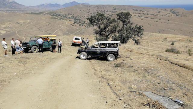 В Крыму начали проверку из-за разбившихся на УАЗике туристов