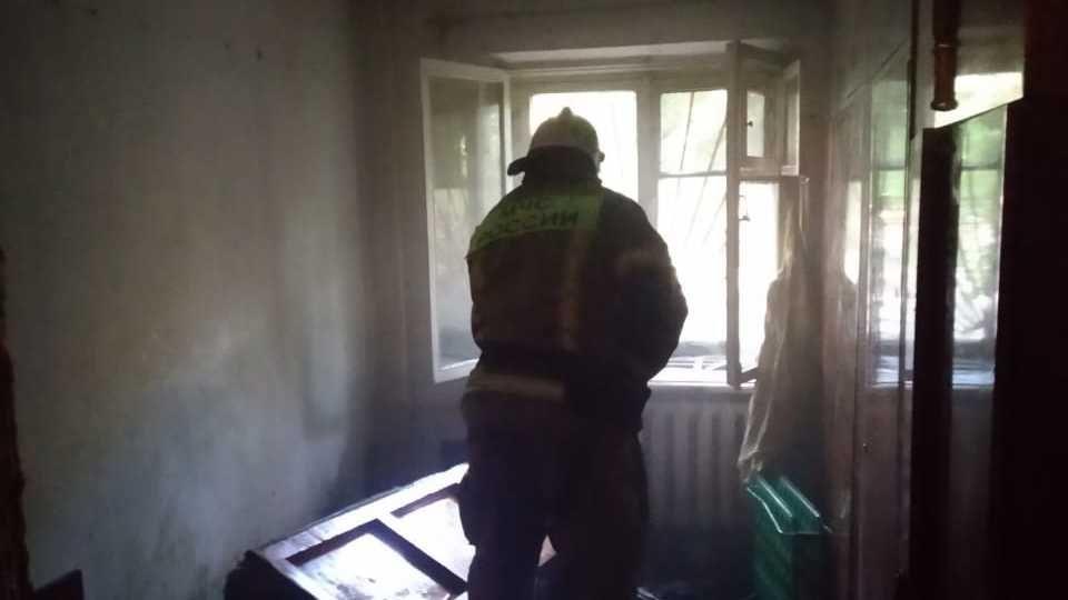 Пожар в Симферополе — спасён мужчина