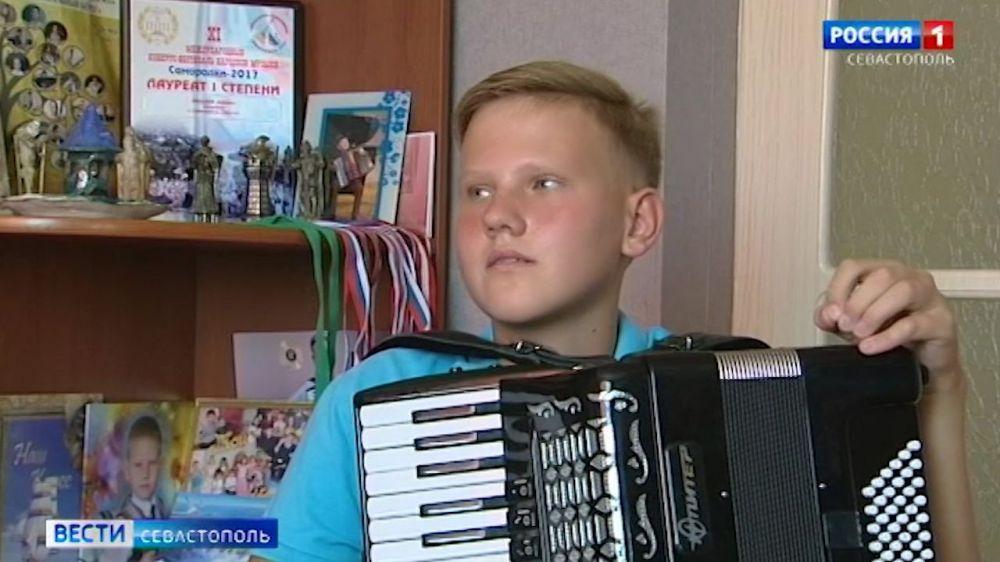 Севастополец выступит на международном конкурсе баянистов и аккордеонистов