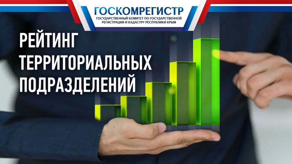 Лучшие результаты работы среди территориальных подразделений Госкомрегистра в августе показали специалисты Джанкойского отдела