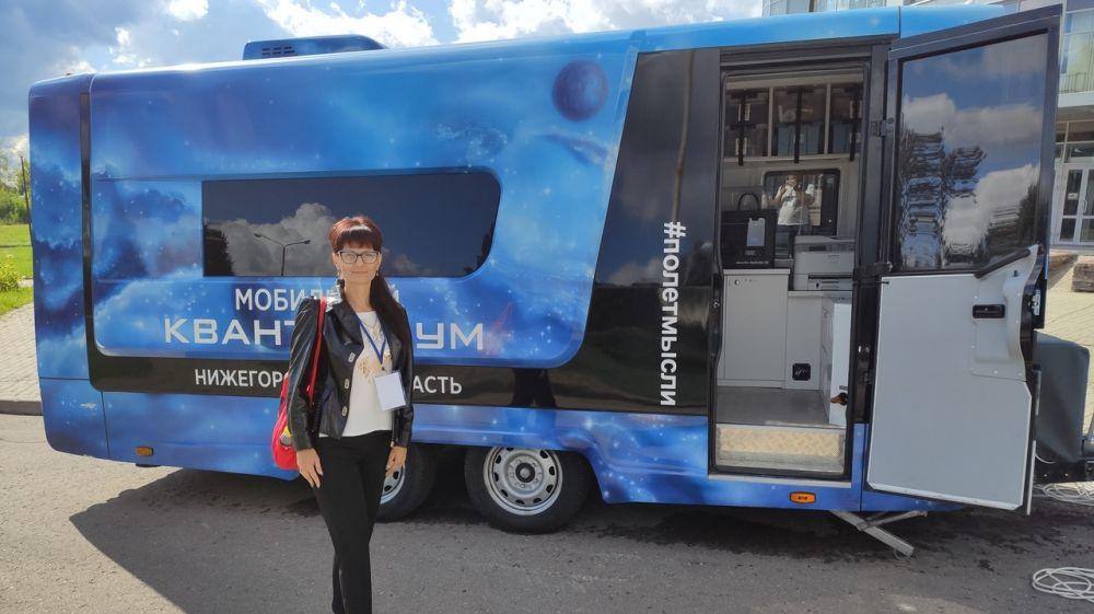 В МБОУ Ильинский УВК Красноперекопского района в рамках национального проекта «Образование» начал функционировать «Мобильный Кванториум»