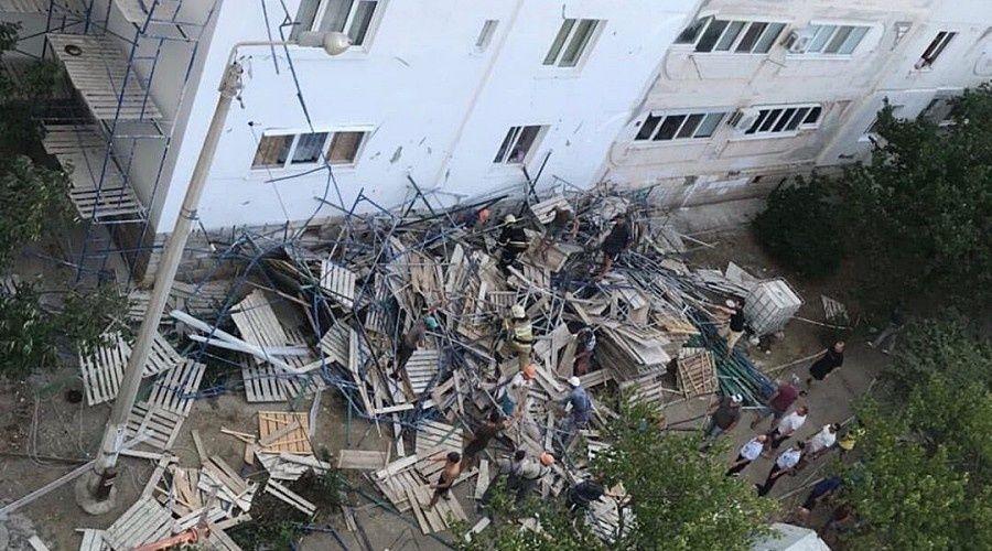 Один человек пострадал при обрушении строительных лесов в Севастополе