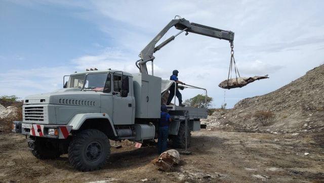 Саперы уничтожили 22 тонны взрывчатки времен ВОВ на востоке Крыма