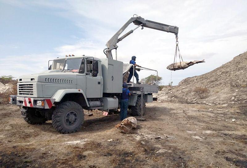 В Ленинском районе Крыма уничтожили свыше 22 тонн взрывоопасных предметов времён ВОВ