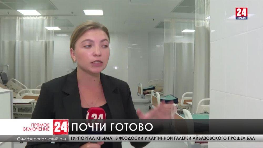 В новой больнице имени Семашко завершают обустройство палат