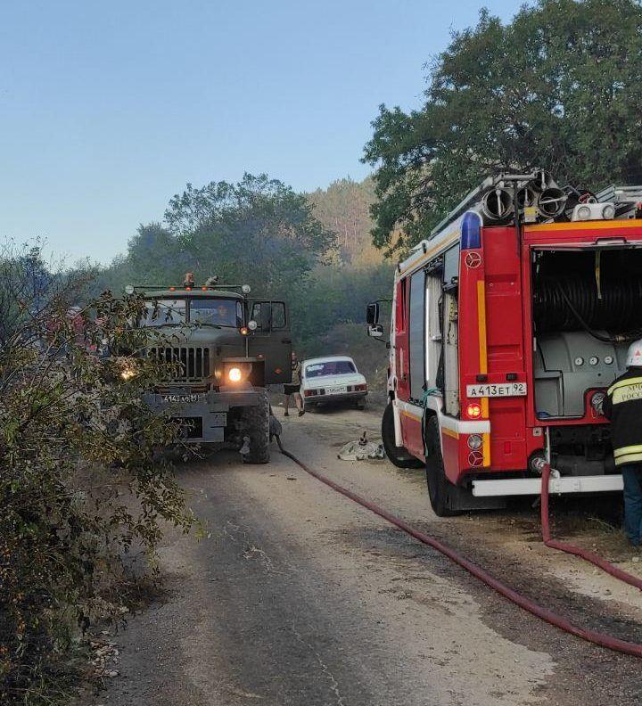 Под Севастополем горел лес