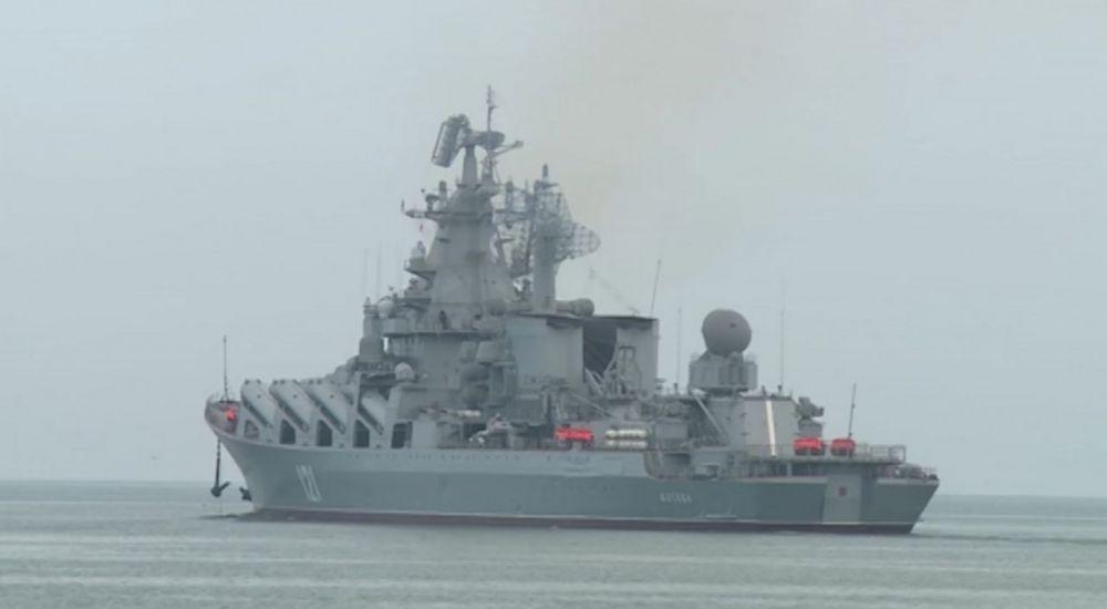 Крейсер «Москва» провёл артиллерийские стрельбы в Чёрном море