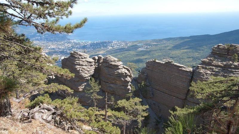 Спасатели поздним вечером сняли трех туристов с труднодоступной скалы на Ай-Петри