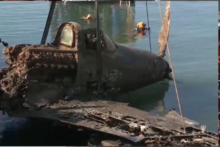 В Сакском районе со дна Чёрного моря подняли самолёт военных лет